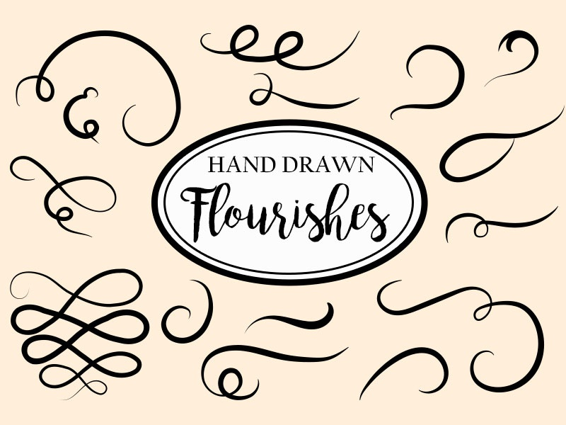 Hand-drawn Vector Decorative Flourishes