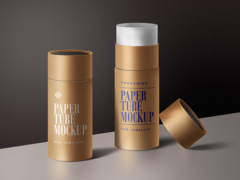 Paper Tube Mockup PSD by GraphicsFuel (Rafi) on Dribbble