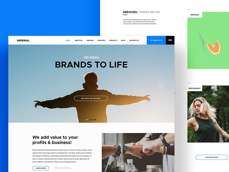 Imperial: PSD Website Template