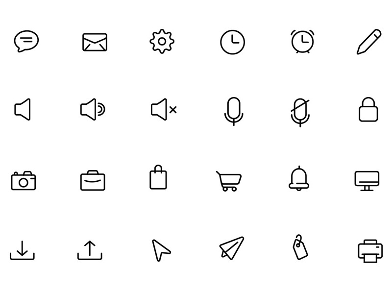 90 Daily Essential Icons freebies freebie free psd icons svg icons ai icons stroke icons line icons vectors vector icons icons