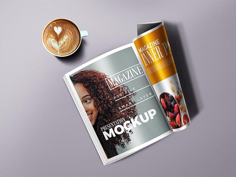 Magazine Mockup PSD cover mockup freebie photoshop freebies free download template psd mockup magazine