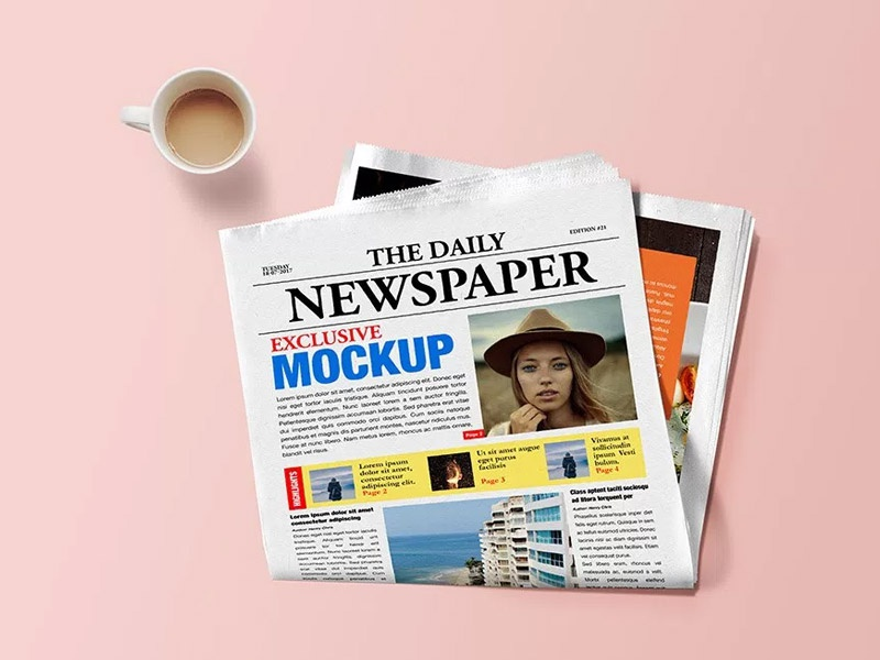 Download Newspaper Mockup PSD