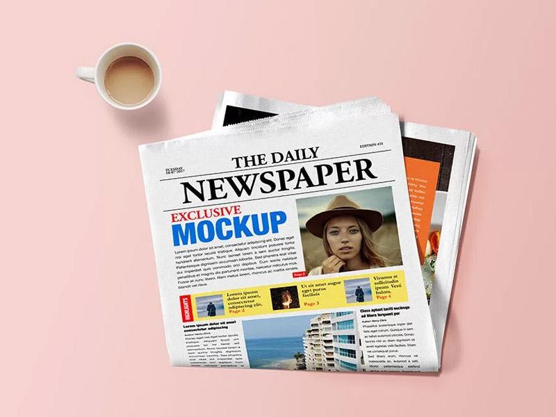 Newspaper Mockup PSD