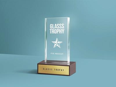 Glass Trophy PSD Mockup