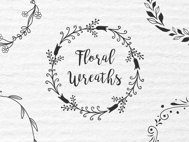 Vector Floral Wreath Set freebies freebie free psd ai eps wreaths vector wreaths floral wreaths