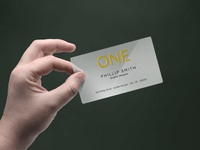 plastic business card mockup psd - Business Card In hand Mockup