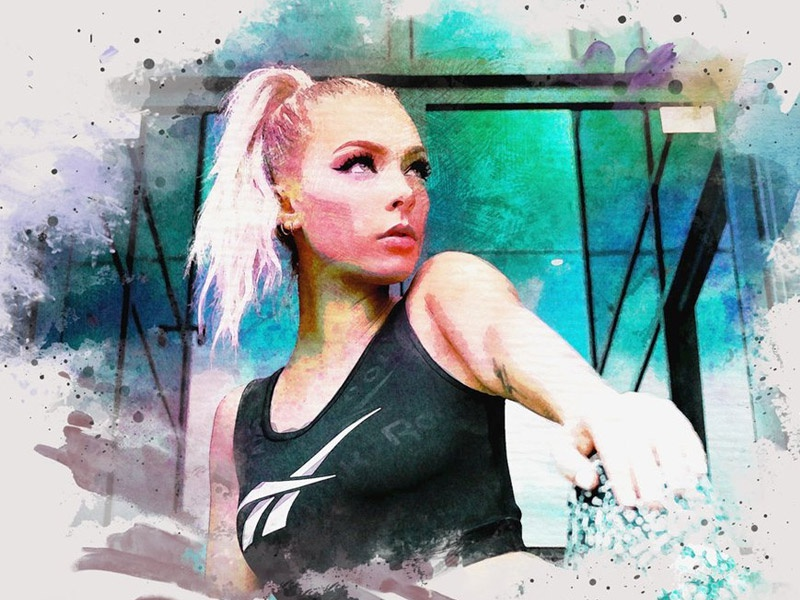 Watercolor painting effect psd