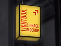Hanging Lightbox Signage Mockup