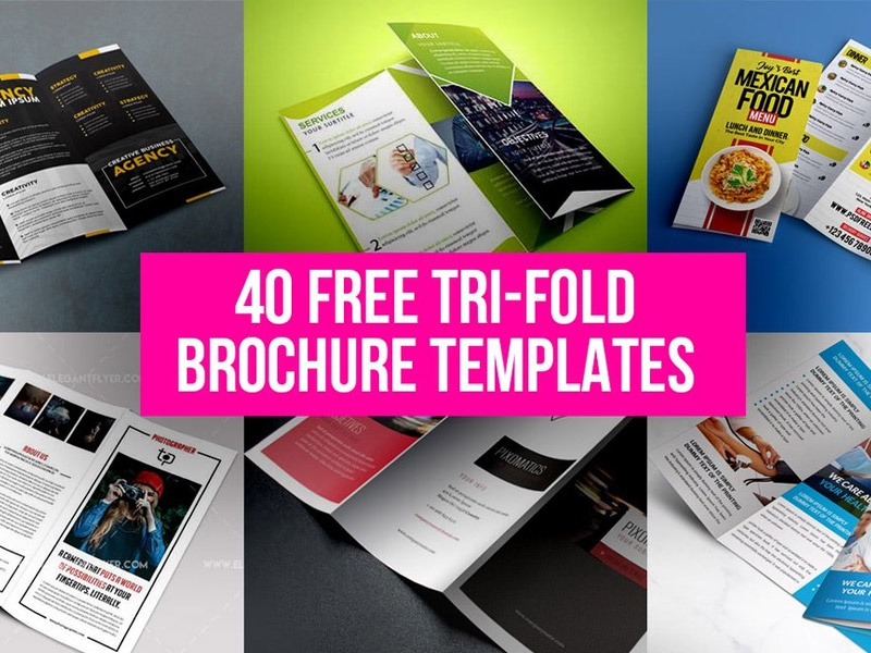 40 free tri fold brochure templates by graphicsfuel rafi