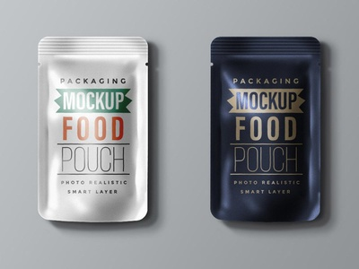 Food Packaging Pouch Mockup identity branding psd file download psd templates psd mockup food packaging