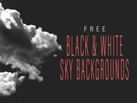 Black White Sky Clouds Backgrounds