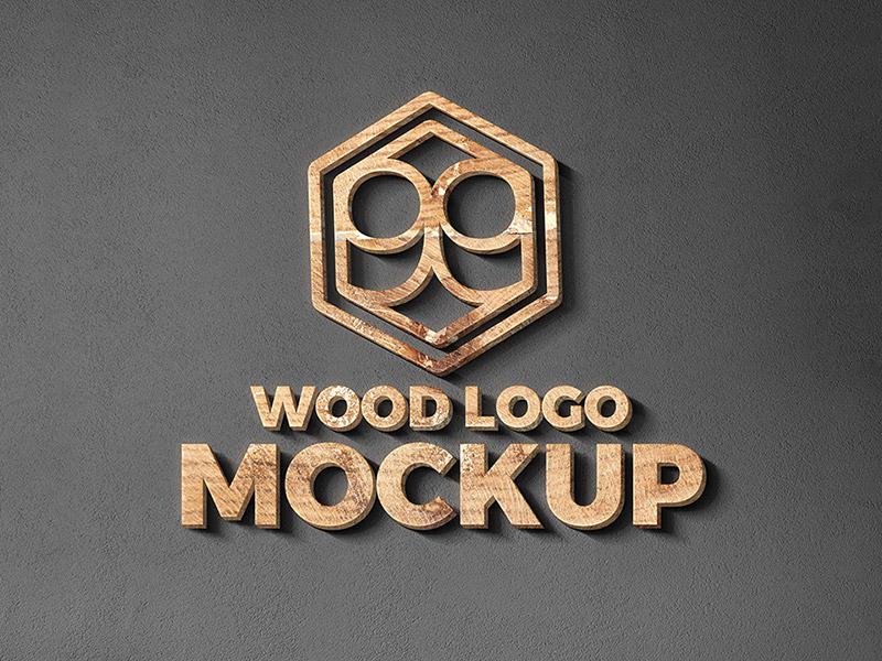 wood  u0026 metal cut logo mockup by graphicsfuel  rafi