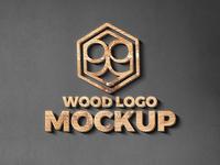Wood & Metal Cut Logo Mockup