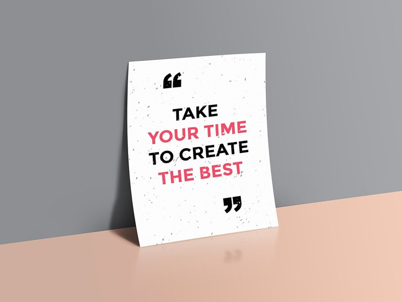 Quotes Poster Mockup By Graphicsfuel Rafi Dribbble Dribbble