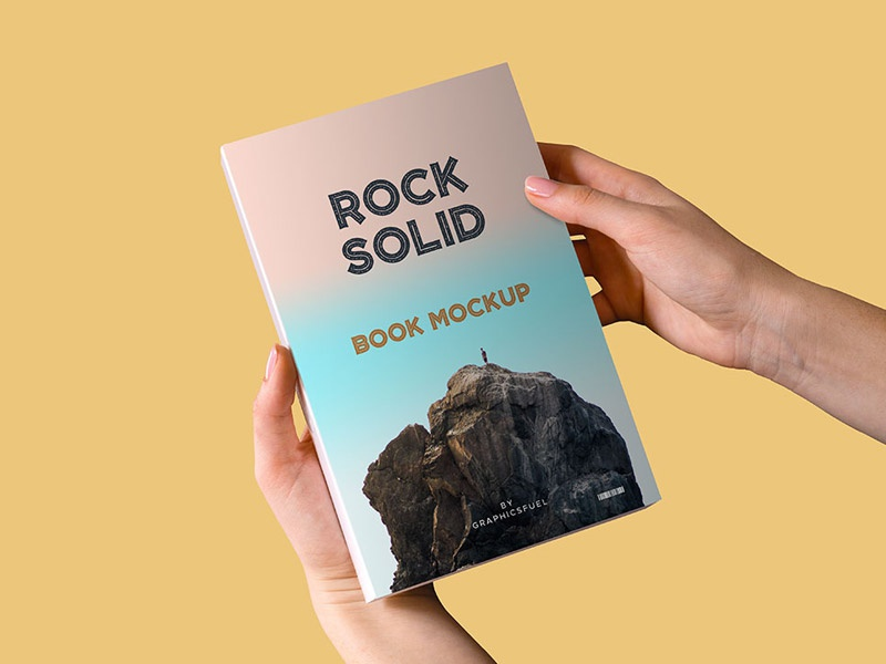 Paperback Book In Hand Mockup By Graphicsfuel Rafi On Dribbble