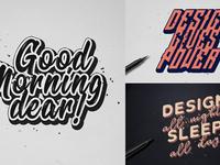Handwritten Calligraphic Text Effects