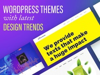 These WordPress Theme Followed the Latest Design Trends