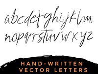 Hand Drawn Vector Alphabets