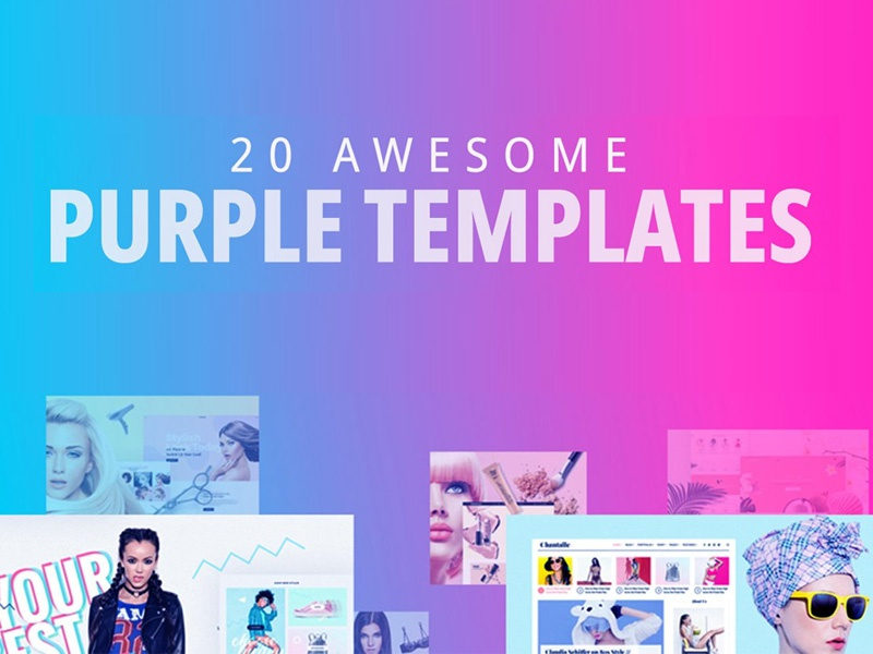 Awesome purple templates