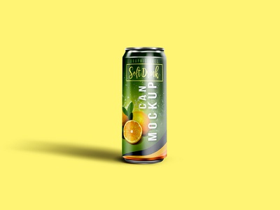 Soft Drink Can Mockup psd free psd files psd templates download psd templates mockups soft drink can mockup