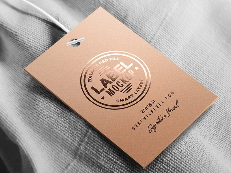 Clothing tag label mockup