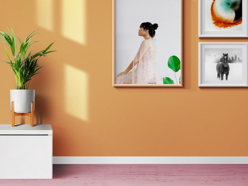 . Living Room Photo Frames And Poster Mockups by GraphicsFuel  Rafi