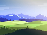 Dramatic Vector Landscapes