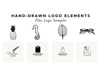 Handdrawn Vector Logo Elements