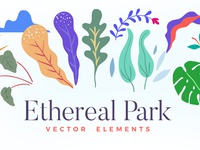 Ethereal Park: Vector Elements