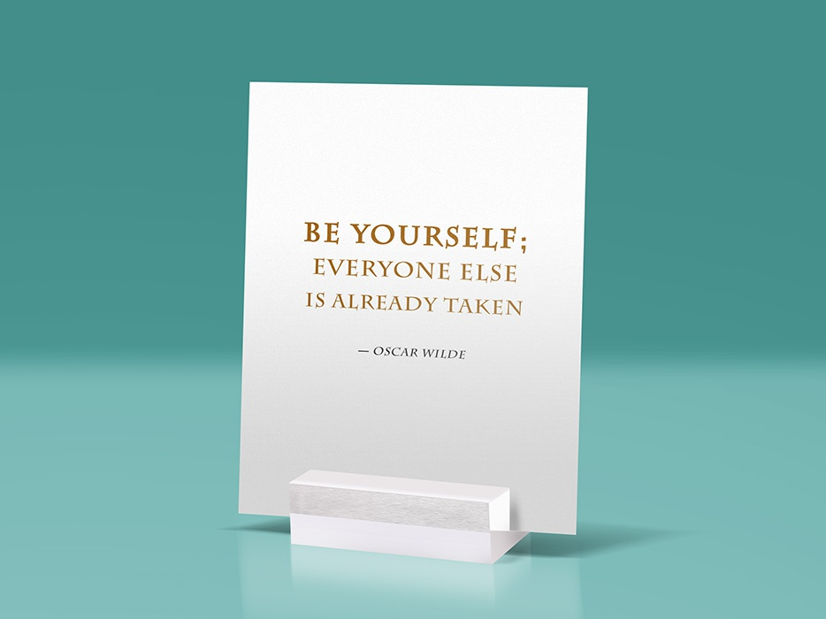 Glass Stand Quote Mockup By Graphicsfuel Rafi Dribbble Dribbble
