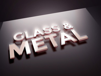 Glass Metal PSD Text Effect layer styles psd text effect metal text effect glass text effect text effects psd download