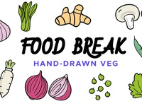 Food Break: Handdrawn Vector Icons