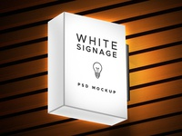 Lightbox Signage PSD Mockup