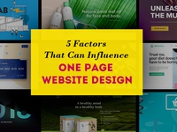 Factors Influencing One Page Websites