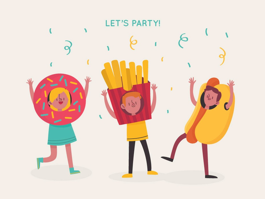 Vector Carnival Characters illustrations download vector party characters carnival characters vectors freebie free