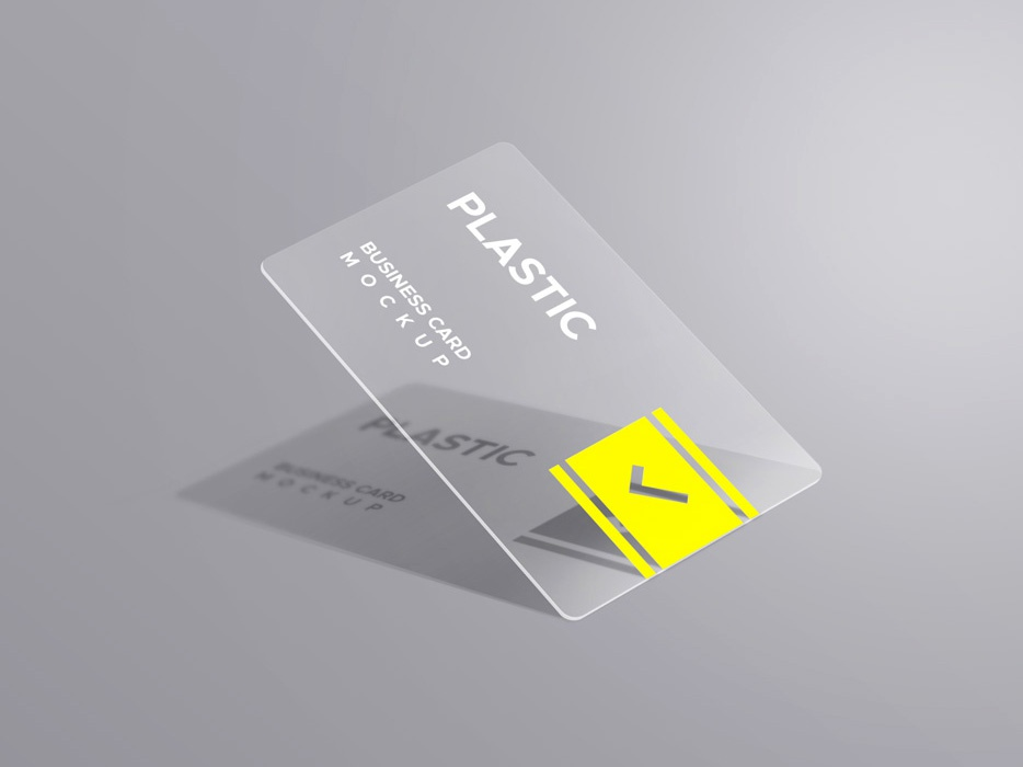 Plastic Business Card Mockups By Graphicsfuel Rafi On Dribbble