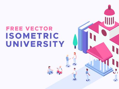 Free Vector Isometric University