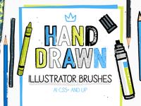 Hand Drawn Illustrator Brushes
