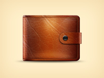 Leather Wallet freebie leather wallet icon illustration icon wallet ecommerce free psd