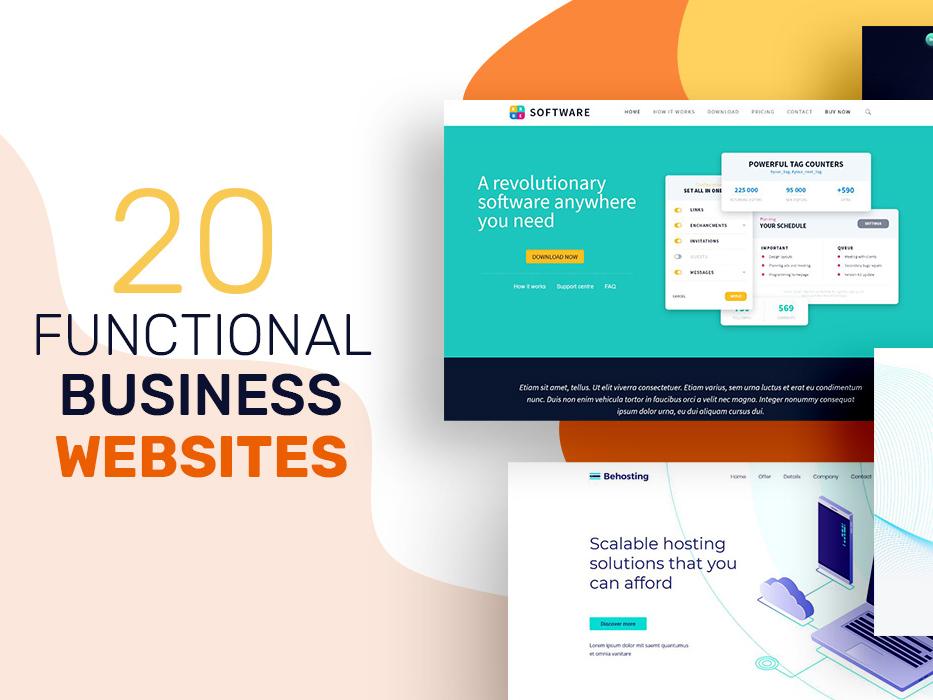 20 Functinal Business Websites templates themes websites business websites