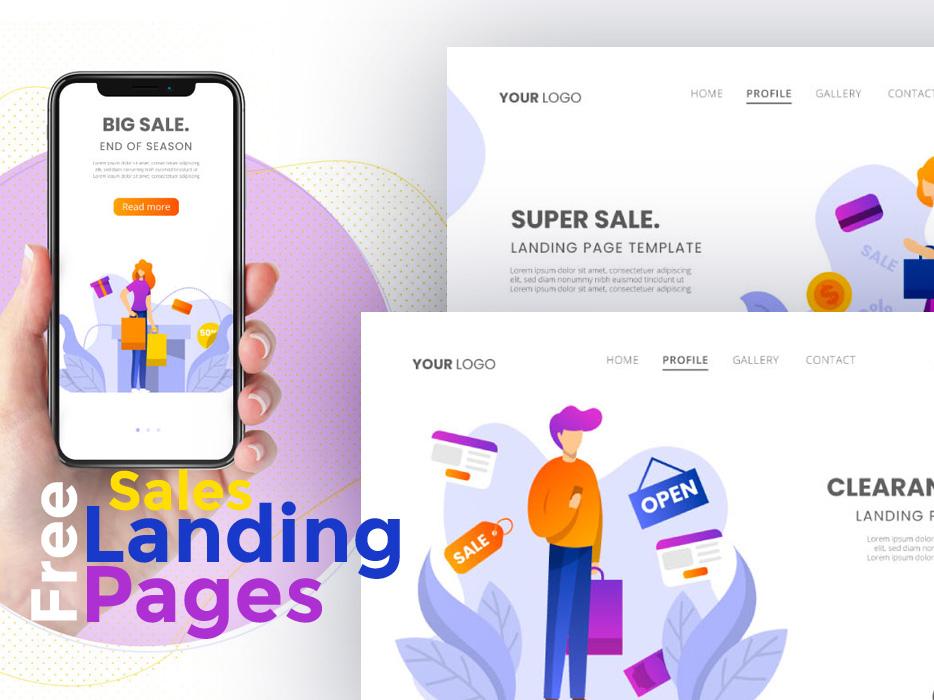 Free Sales Landing Pages landing pages illustrations freebies freebie free