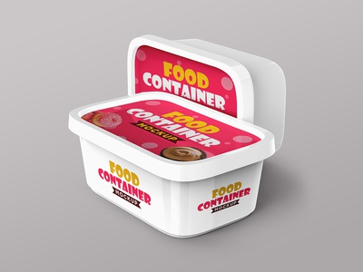 Plastic Food Container Mockups