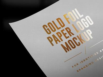 Gold & Silver Foil Logo Mockups