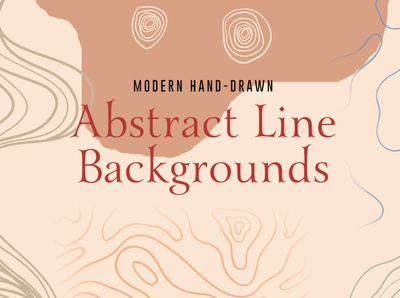 Handdrawn Abstract Line Backgrounds