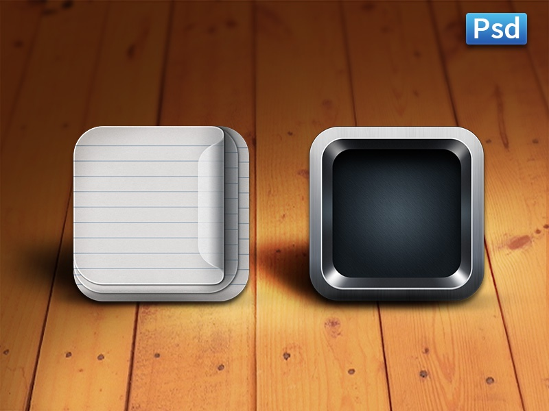 iOS App Icon Templates ios app icon templates free psd file download psds icons paper steel