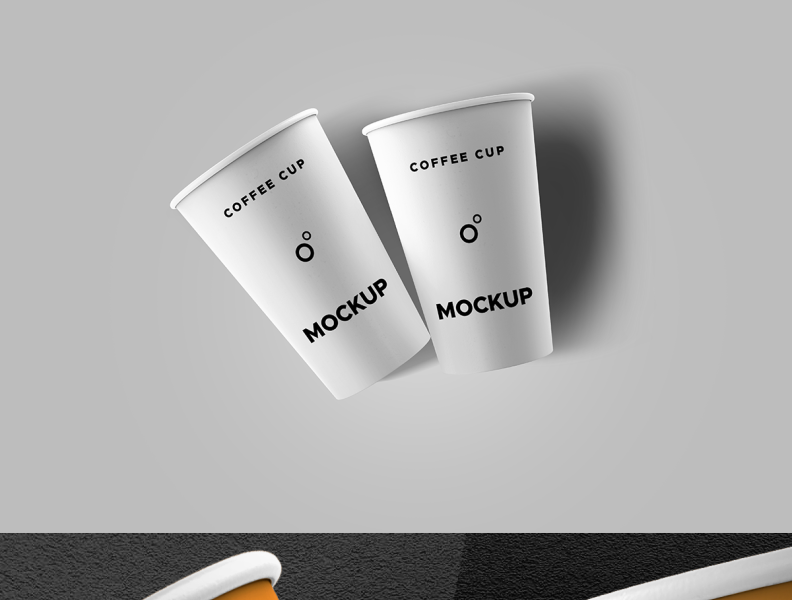 Coffee Cups Mockup by GraphicsFuel (Rafi) on Dribbble