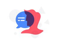 Chat bubble + Human
