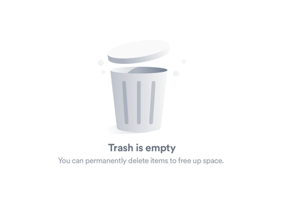 Empty state 03 illustration delete uiux web ui emptystate trash