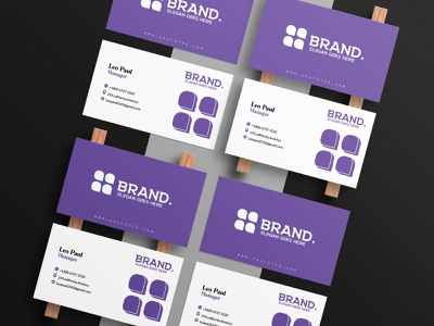 Purple Minimal Business Card Design design industrial design abstract design business card design minimal graphic design branding