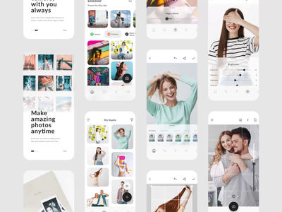 Photo Editing App Exploration - Full Page ios clean android flat elegant colorful beautiful ux edition full page ui app design photo app